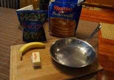 How to Make Banana Bacon Pancakes